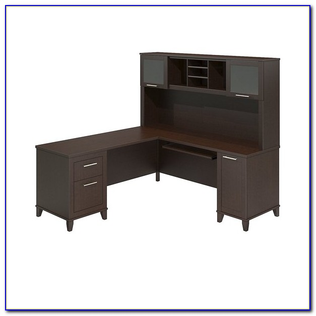 Sauder Cherry Desk With Hutch