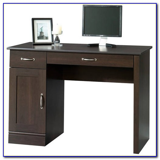 Sauder Cinnamon Cherry Finish Computer Desk With Hutch