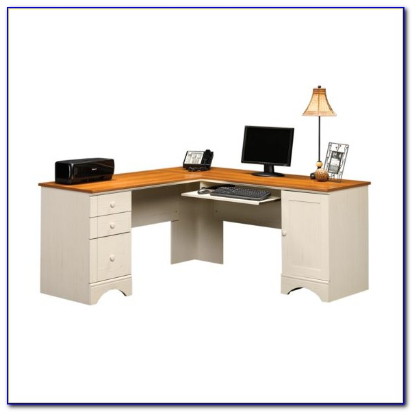 Sauder Corner Computer Desk Carolina Oak