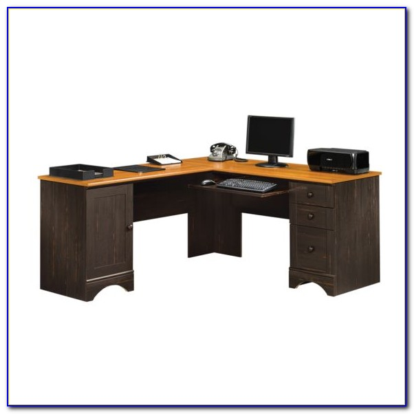 Sauder Corner Computer Desk With Hutch
