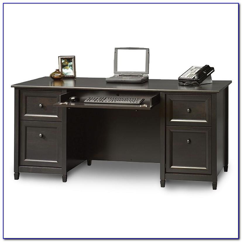 Sauder Edge Water Desk Chalked Chestnut