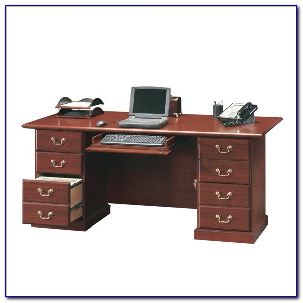 Sauder Heritage Hill Executive Desk Classic Cherry