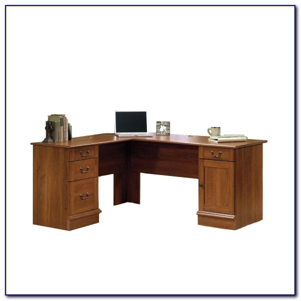 Sauder L Shaped Desk Cherry