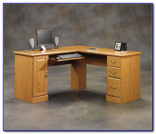 Sauder Orchard Hills Large Computer Desk With Hutch
