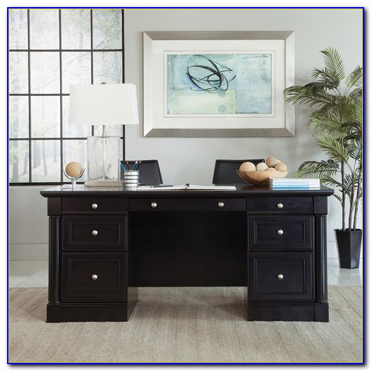 Sauder Palladia Executive Desk Multiple Finishes
