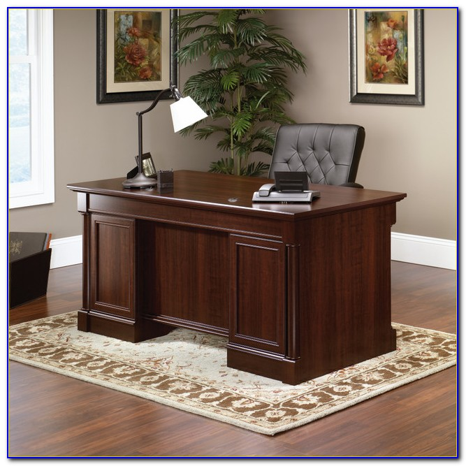 Sauder Palladia Executive Desk Select Cherry Finish