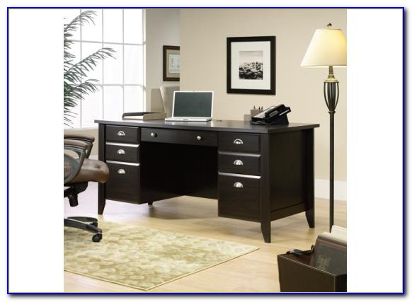 Sauder Shoal Creek Computer Desk Jamocha Wood