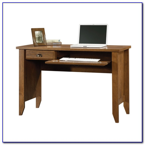 Sauder Shoal Creek Computer Desk Oiled Oak Finish