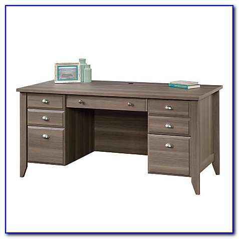 Sauder Shoal Creek Executive Desk White