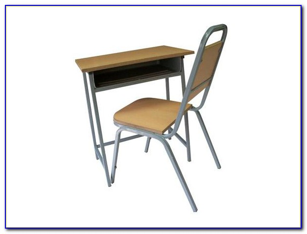 Single Student Desk And Chair Set