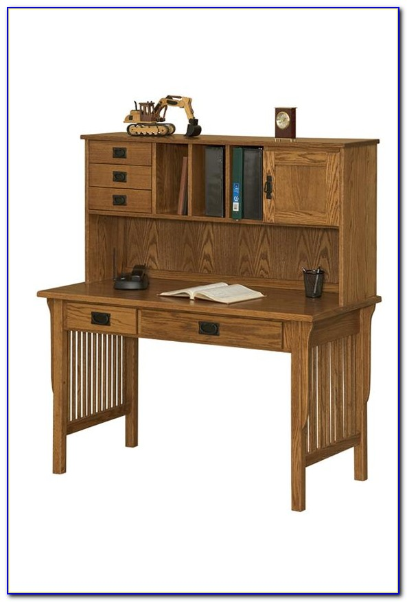 Solid Wood L Shaped Desk With Hutch