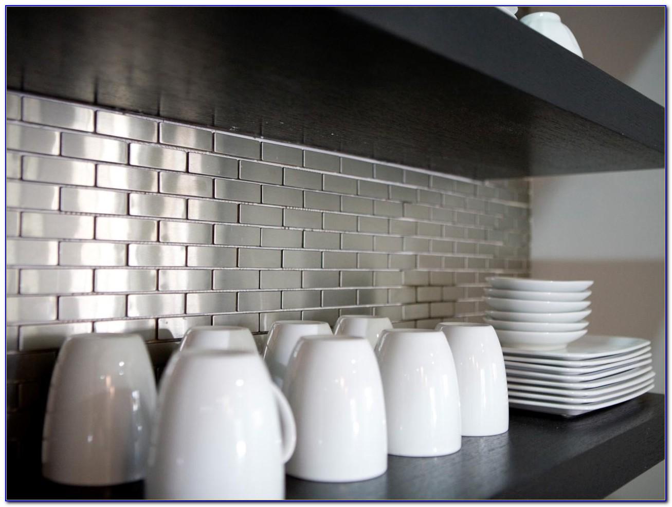 Stainless Steel Tile Backsplash Installation