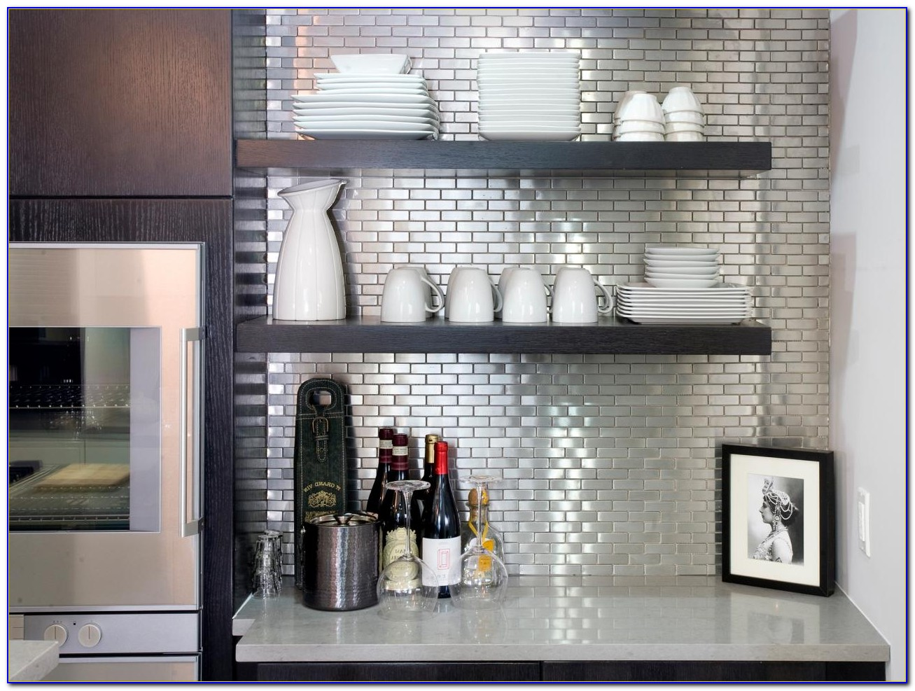 Stainless Steel Tiles Backsplash Peel Stick