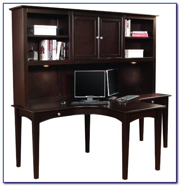 Studio Home Office Desk With Hutch