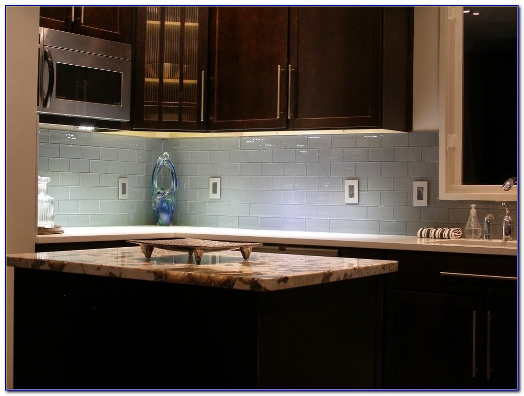 Subway Glass Tile Backsplash Ideas