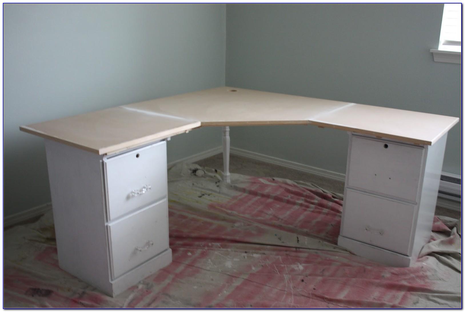 Techni Mobili Corner Desk With File Cabinet