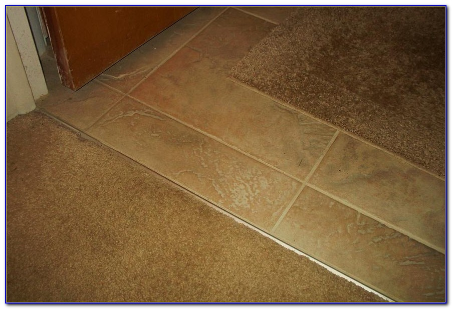 Transition Carpet To Tile Concrete Floor