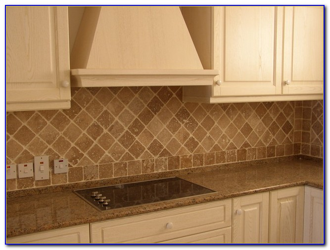 Tumbled Botticino Marble Tile Backsplash
