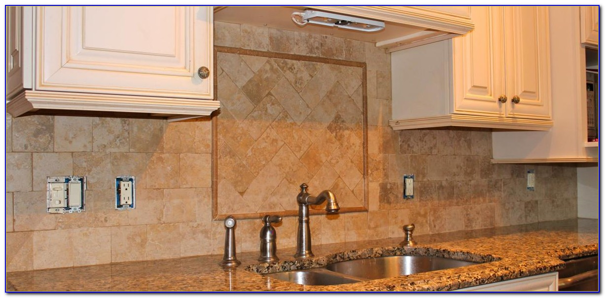Tumbled Marble Mosaic Tile Backsplash