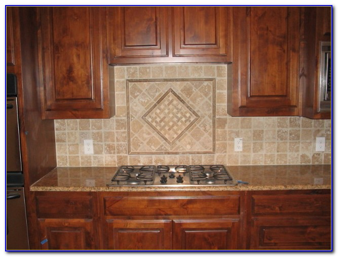 Tumbled Marble Tile Backsplash Photos