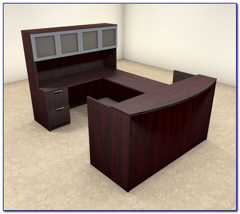 U Shaped Reception Desk With Hutch