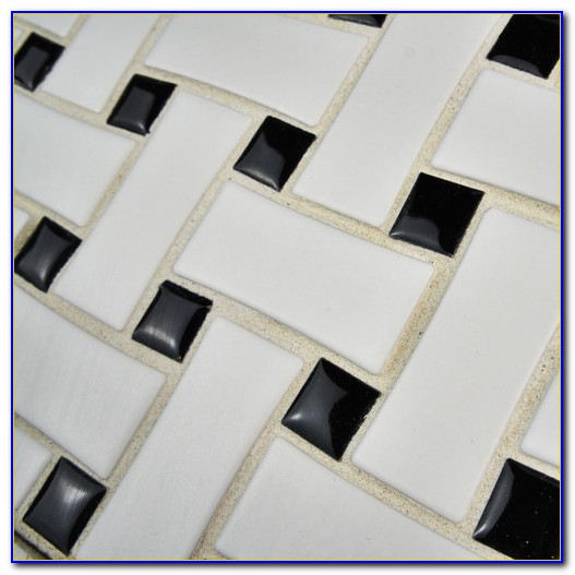 Unglazed Porcelain Basket Weave Tile