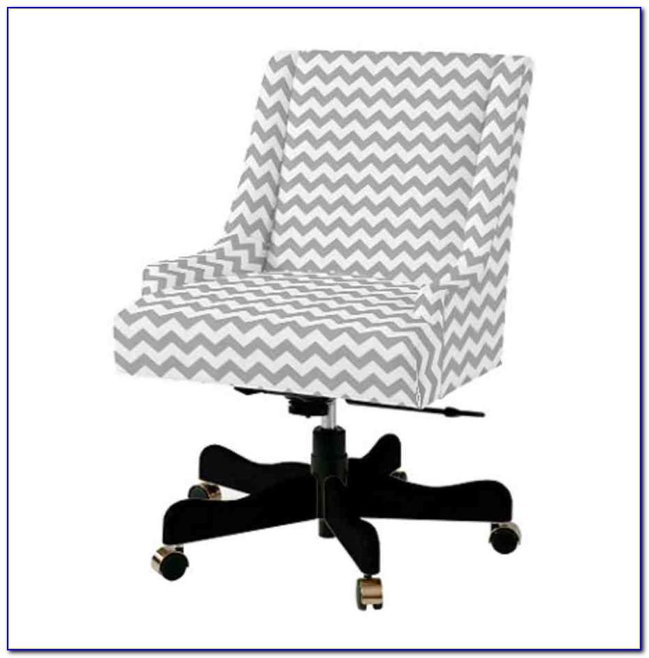 Upholstered Swivel Desk Chair