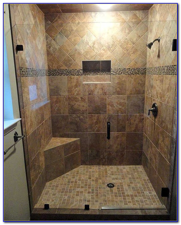 Walk In Tile Shower No Door