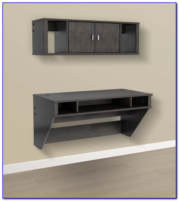 Wall Mounted Floating Desk With Drawer