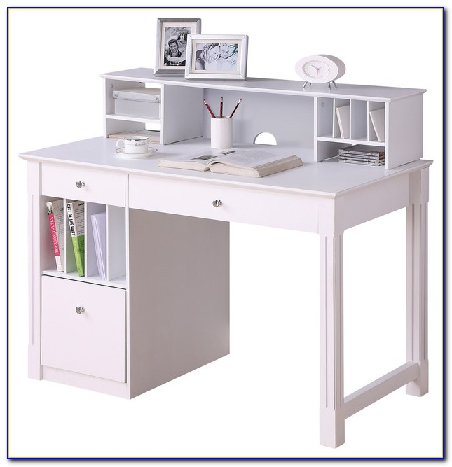 White Computer Desk With Hutch Ikea