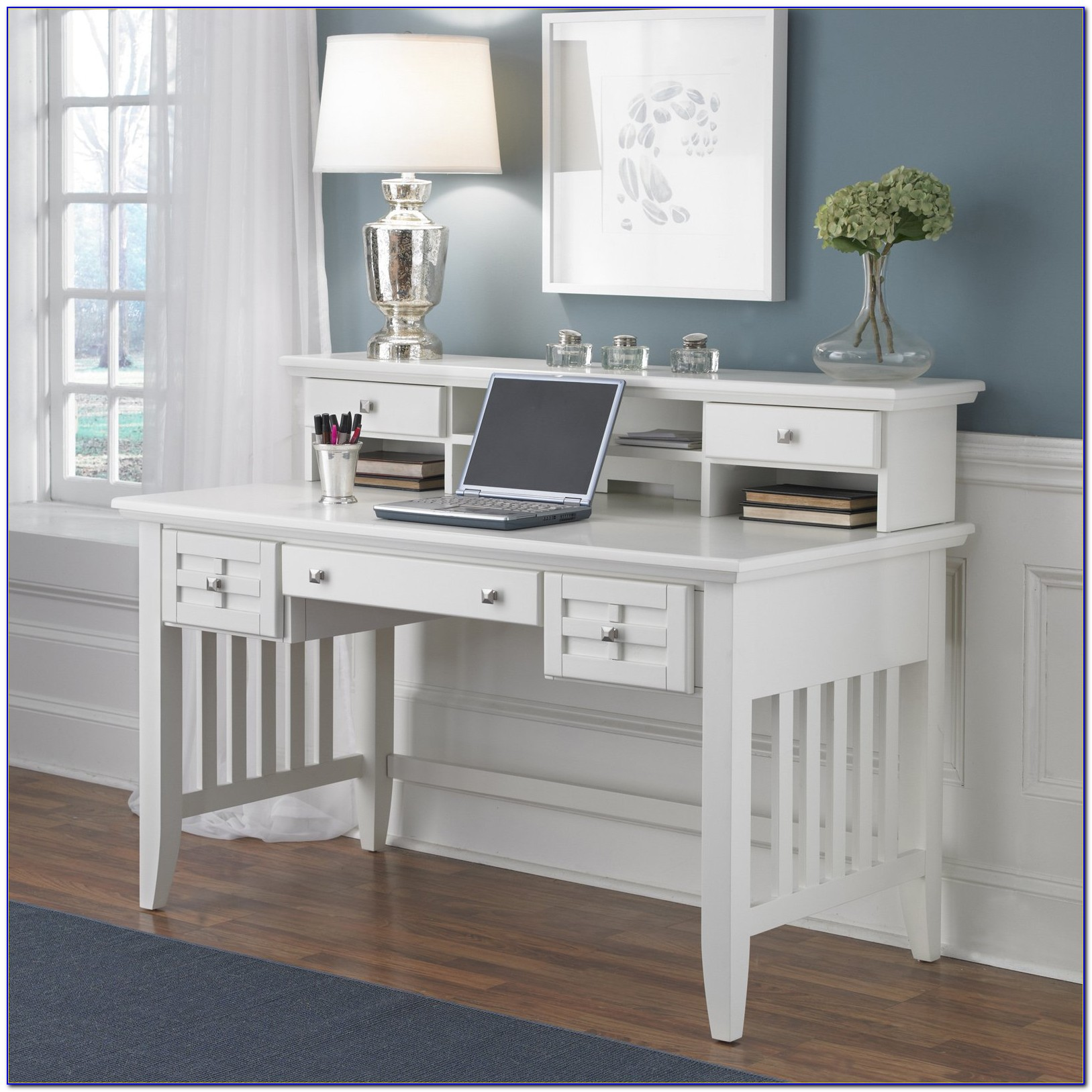 White Desk And Hutch Sydney