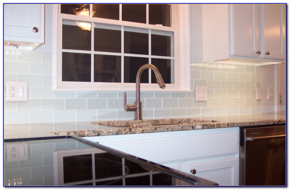 White Glass Metal Backsplash Tile