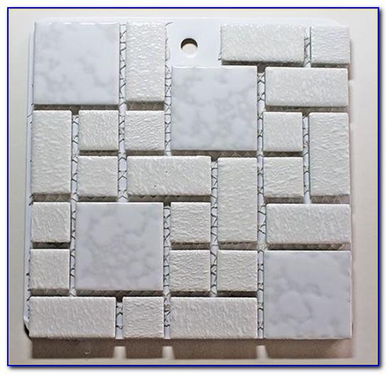 White Hexagon Mosaic Floor Tile