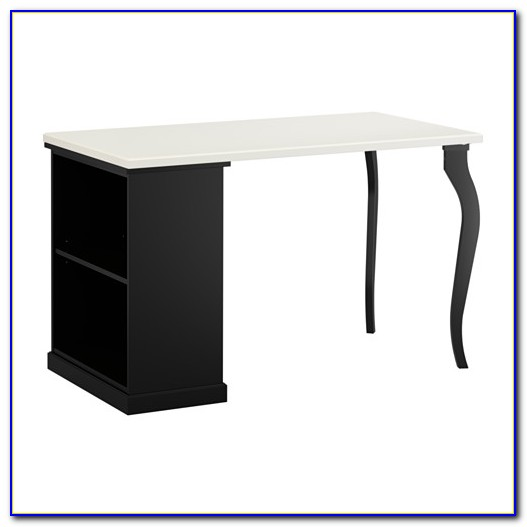 White Ikea Desk With Storage