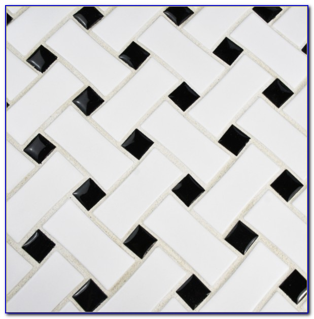 White Porcelain Basket Weave Tile