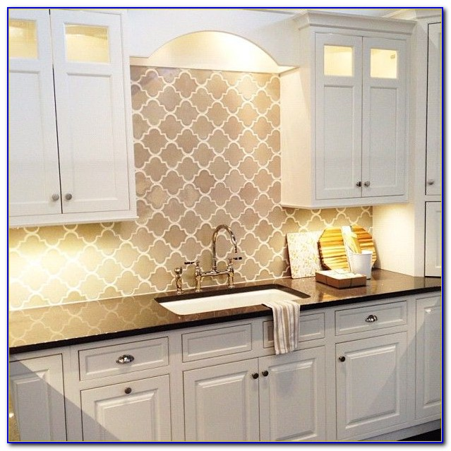 White Subway Tile Backsplash With Beige Grout