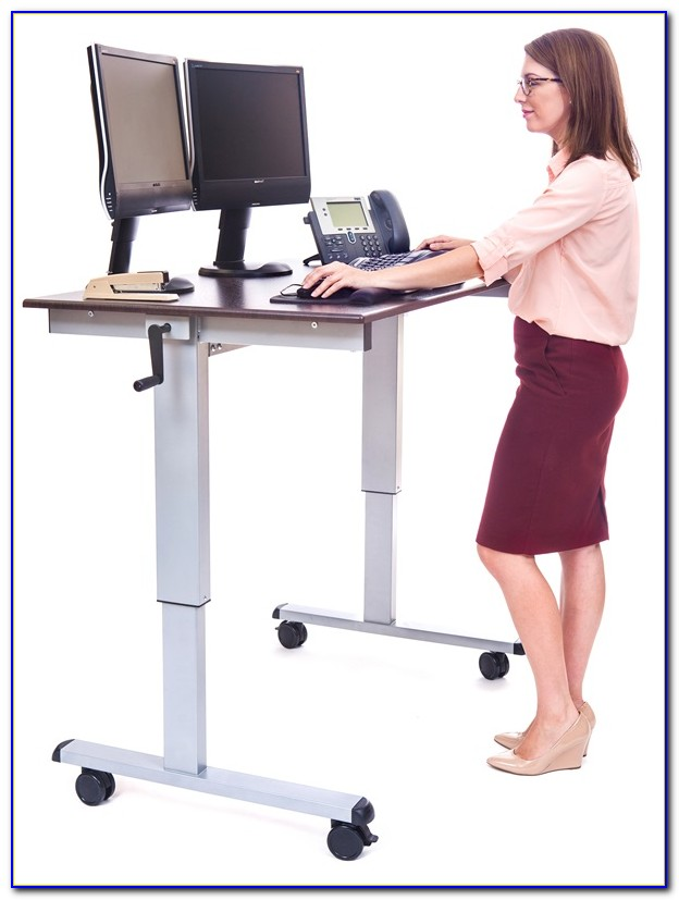 32 Mobile Ergonomic Stand Up Desk Computer Workstation