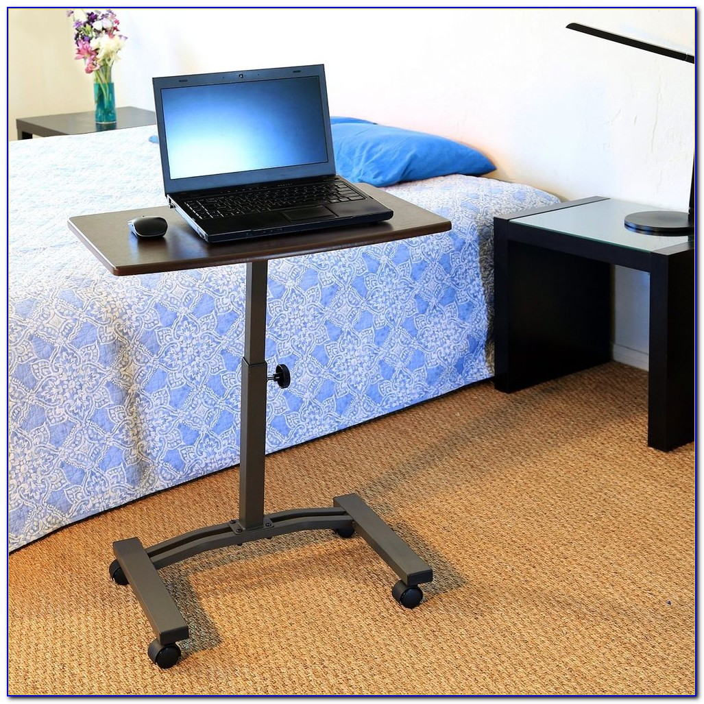 Adjustable Height Mobile Laptop Cart Desk