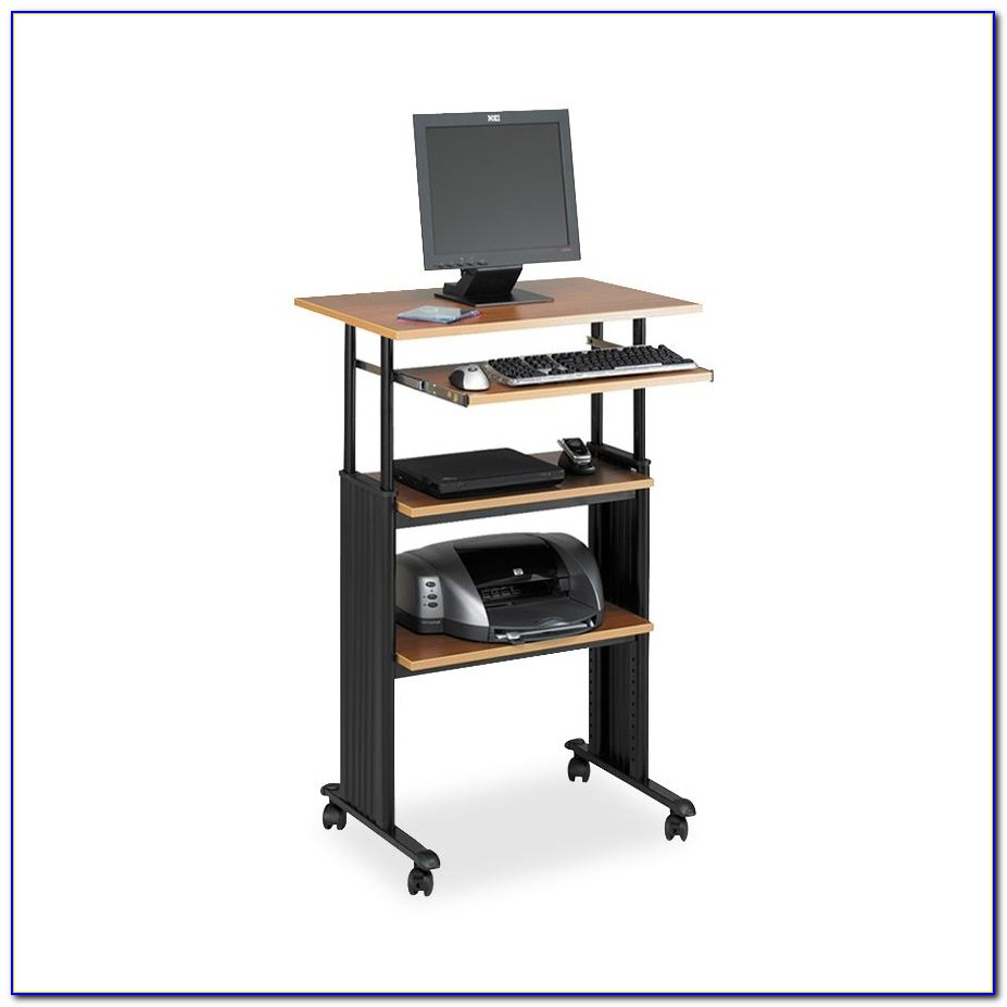 Adjustable Height Stand Up Desk And Monitor Holder