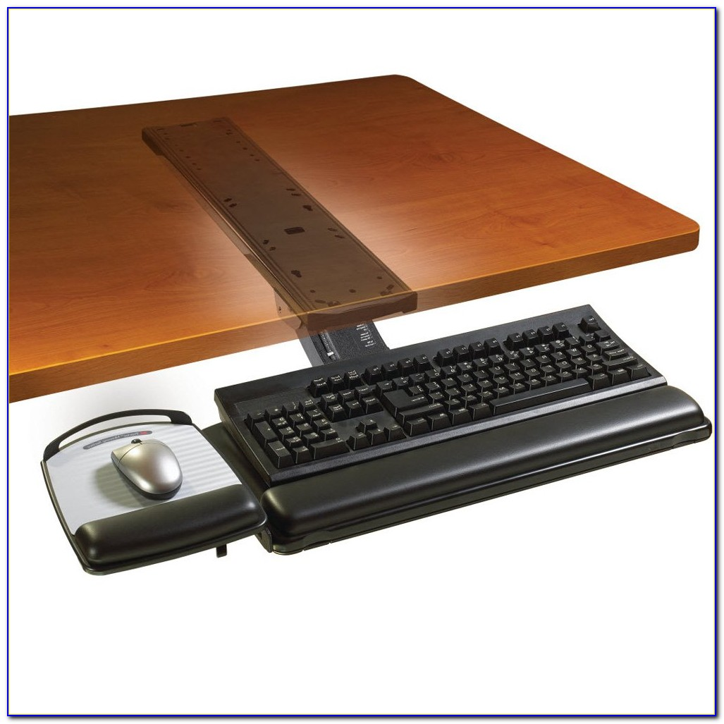 Adjustable Keyboard Tray Under Desk