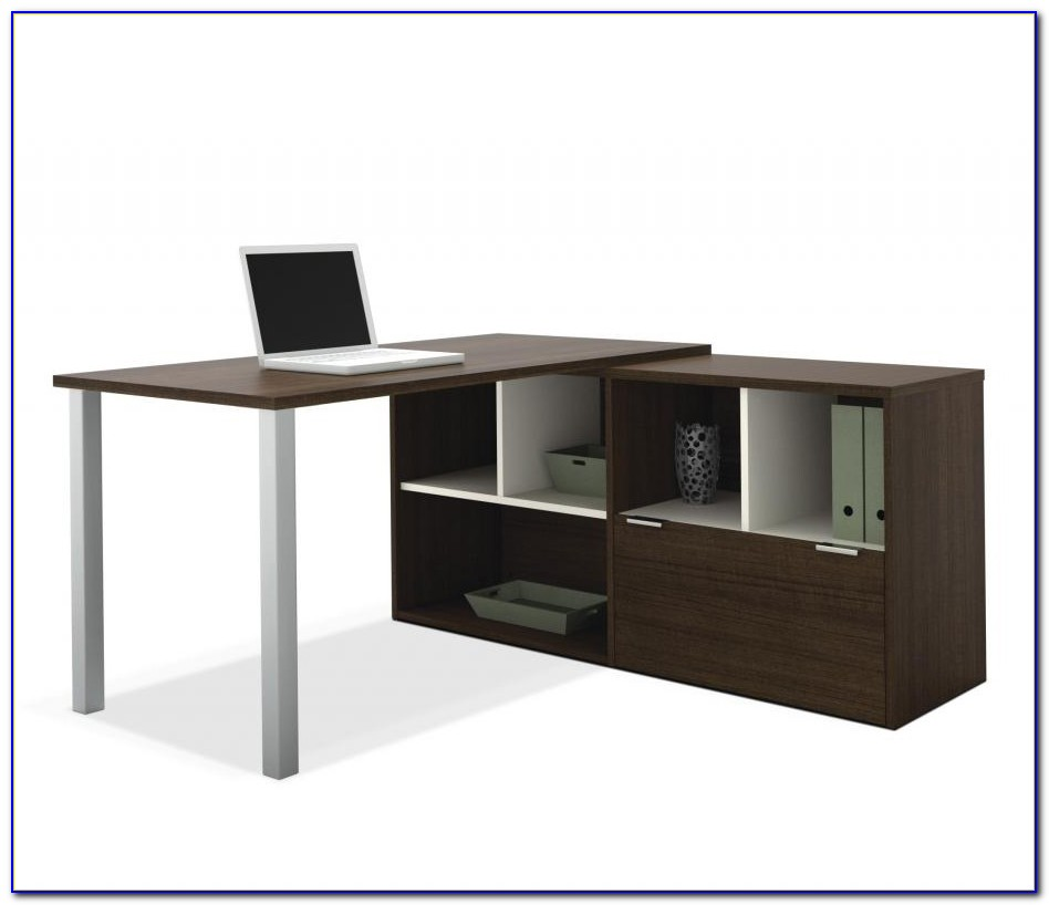 Bestar L Shaped Desk With Hutch