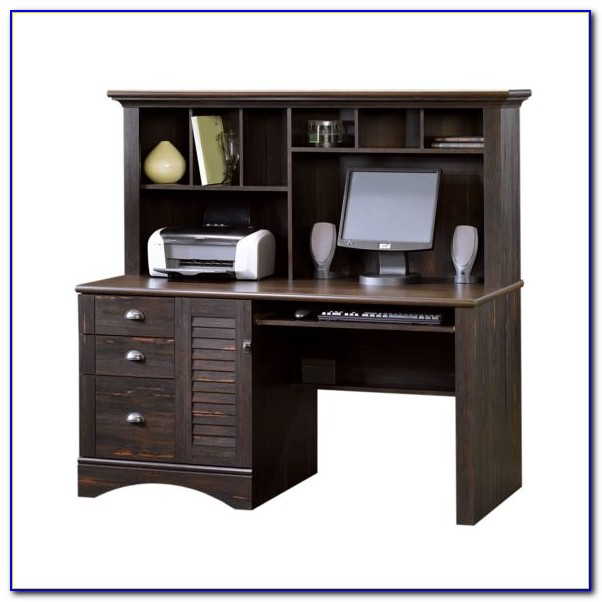 Bestar Tremblant Workstation Computer Desk With Hutch