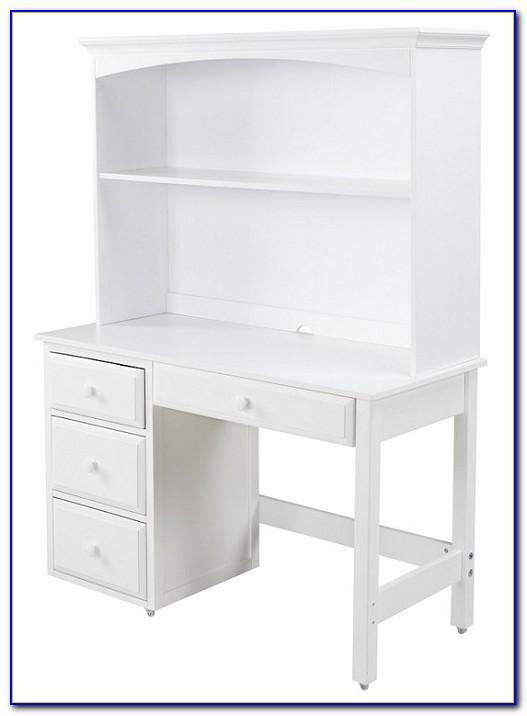 Black And White Student Desk With Hutch