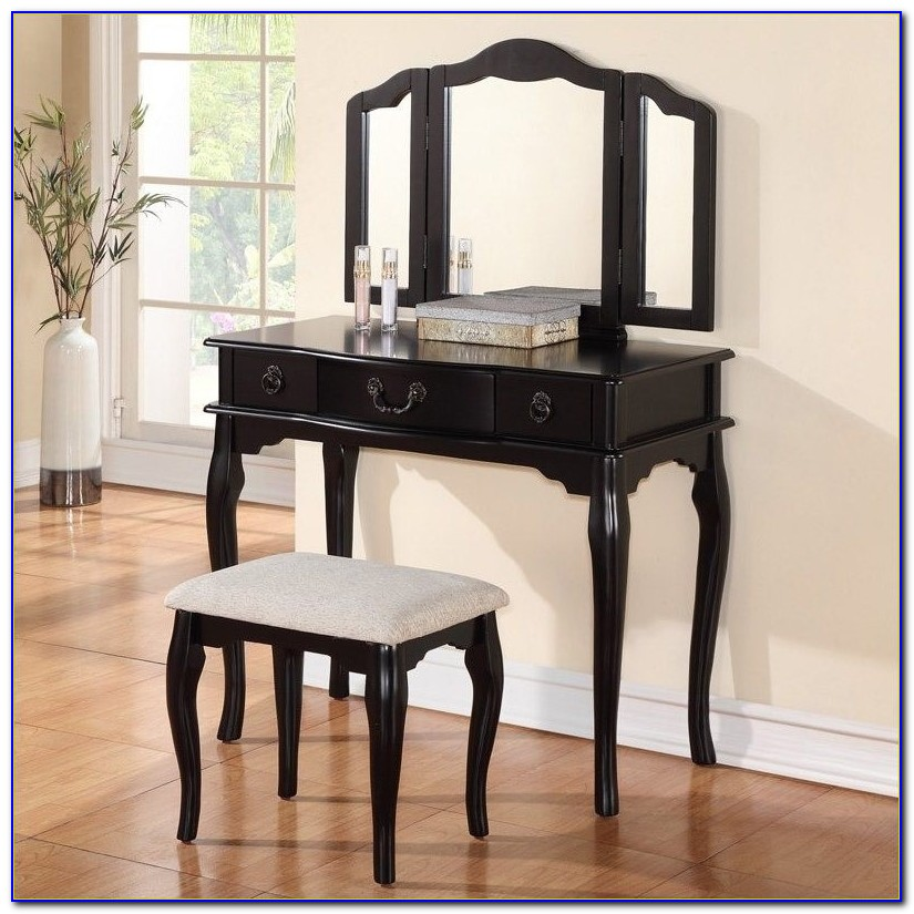 Black Bedroom Vanity With Mirror