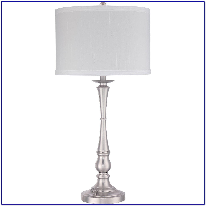 Brushed Nickel Table Lamp Base