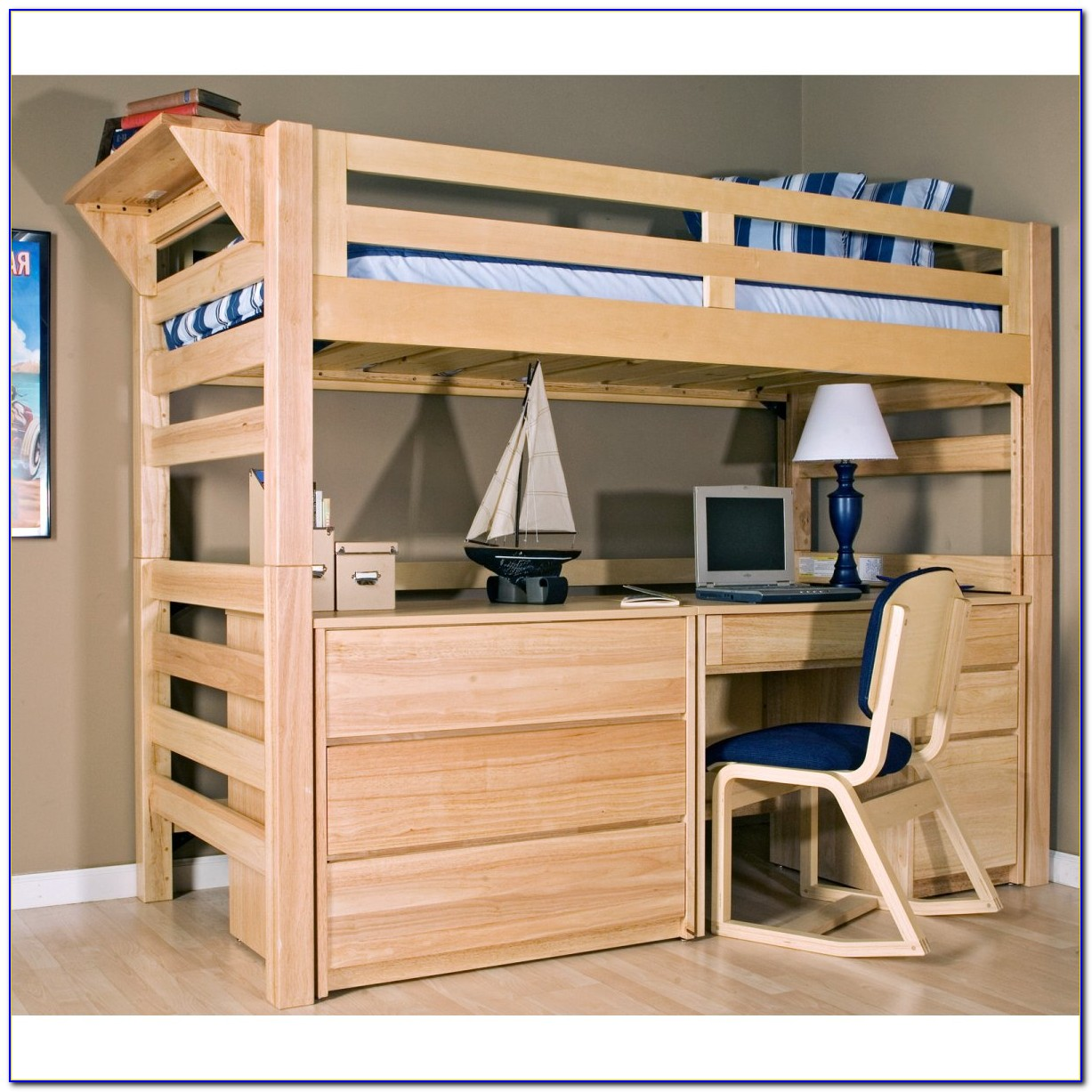 Bryson Twin Bunk Bed With Desk