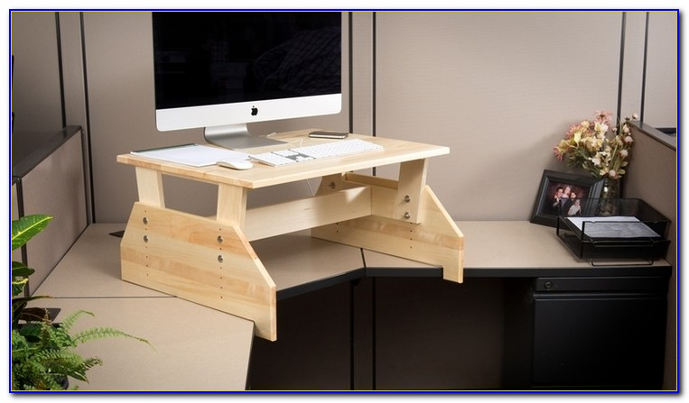 Build Your Own Adjustable Standing Desk Converter