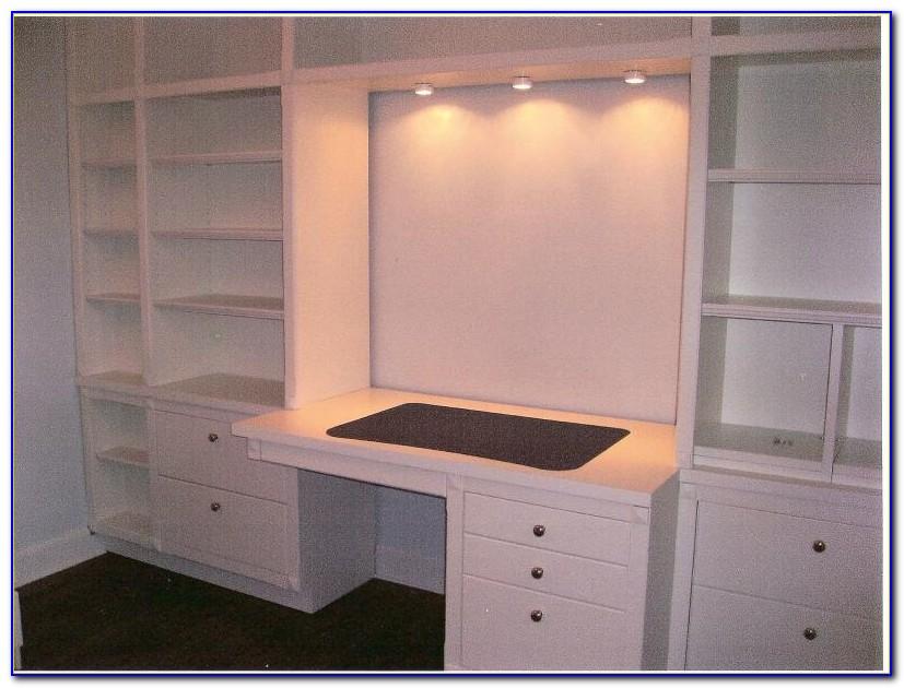 Built In Bookshelves With Desk Plans