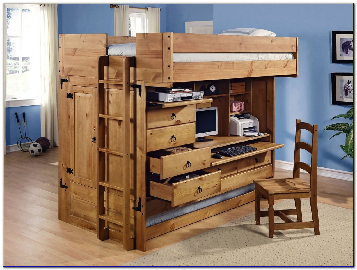 Bunk Bed With Desk And Dresser Underneath
