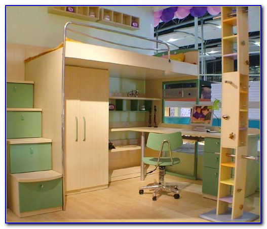 Bunk Beds With Desk Under It